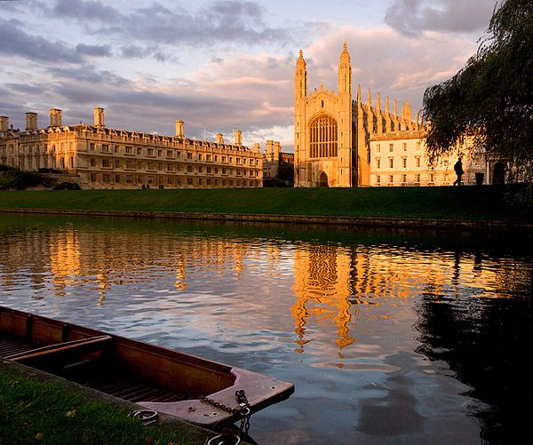 sunset over the River Cam from within King's College at Cambridge University in England Cambridge PHOTOGRAPHY BY SEAN T MCHUGH