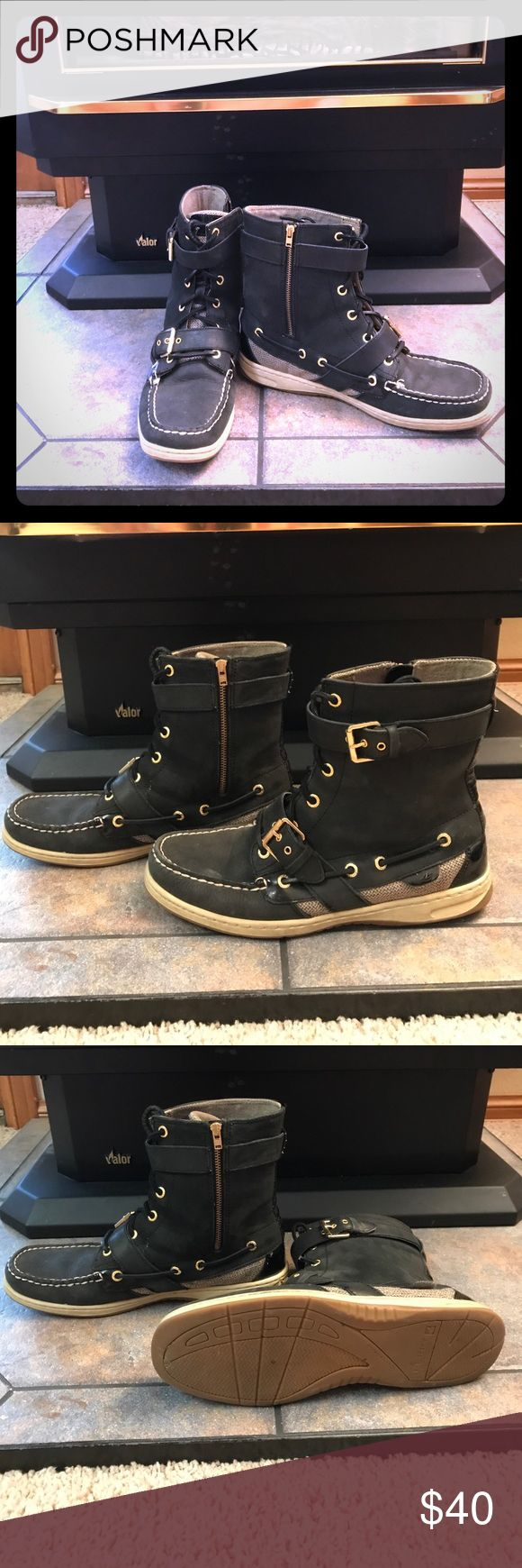 Women's Sperry hi top Great pair of shoes! I simply cannot wear this style anymore. Free shipping on Ⓜ️ Sperry Top-Sider Shoes