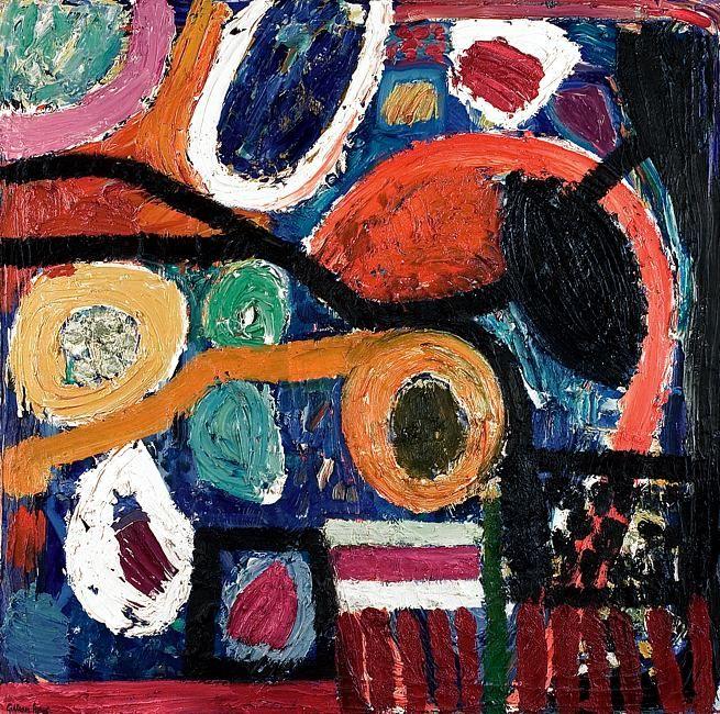 lawrenceleemagnuson: Gillian Ayres, UK b. 1930 Mambo 2000s oil 122 x 121 cm