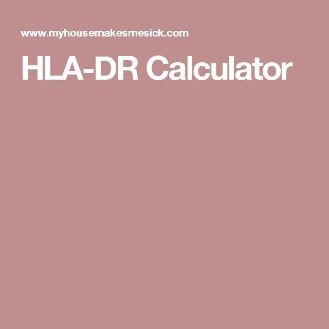 HLA-DR Calculator