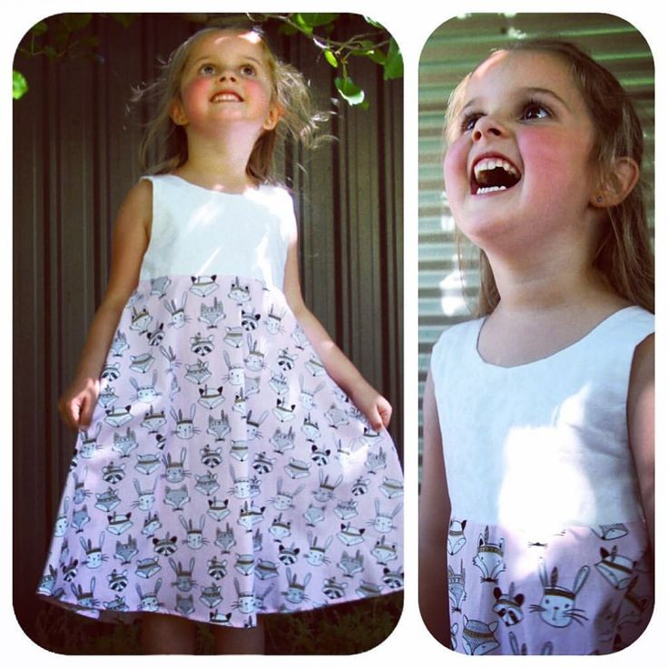 Girls animal dress. Size 5-6. How cute is her smile!?