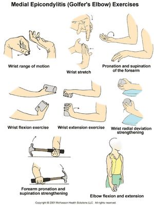 Exercises for 'Golfer Elbow'-Pinned by SOS Inc. Resources http://pinterest.com/sostherapy.