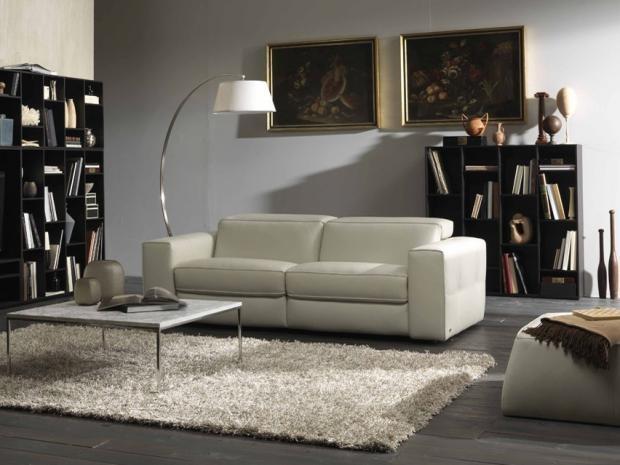 Sacramento Roseville Brio Recliner Sofa 15CZ - Sofas - Natuzzi Italy