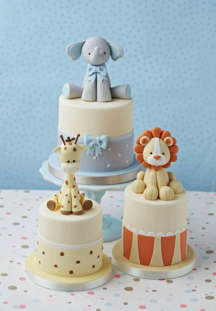 Cute elephant, lion and giraffe cakes                                                                                                                                                                                 More