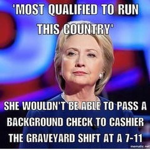 She wouldn't.  #Hillaryclinton #Hillaryforprison2016 #Neverhillary #Nohillary #Screwhillary   https://www.sonsoflibertytees.com/patriotblog/she-wouldnt-2/?utm_source=PN&utm_medium=Pinterest+%28Memes+Only%29&utm_campaign=SNAP%2Bfrom%2BSons+of+Liberty+Tees%3A+A+Liberty+and+Patriot+Blog-24887-She+wouldn%27t.