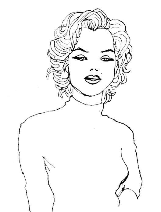 'Marilyin' illustration by Giulia Benaglia