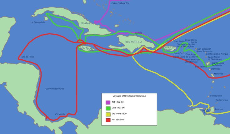 Route that Christopher Columbus took