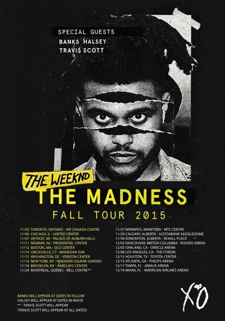 THE WEEKND The Madness Fall Tour 2015 PHOTO Print POSTER Abel Tesfaye Banks XO 5