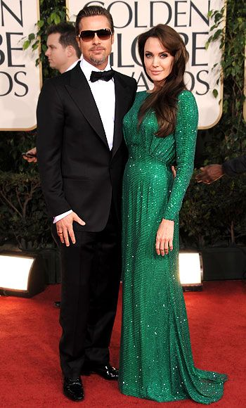 Most Stylish Couples - Brad Pitt and Angelina Jolie.I love Angie and Brad, but this dress is perfect for a much older woman.