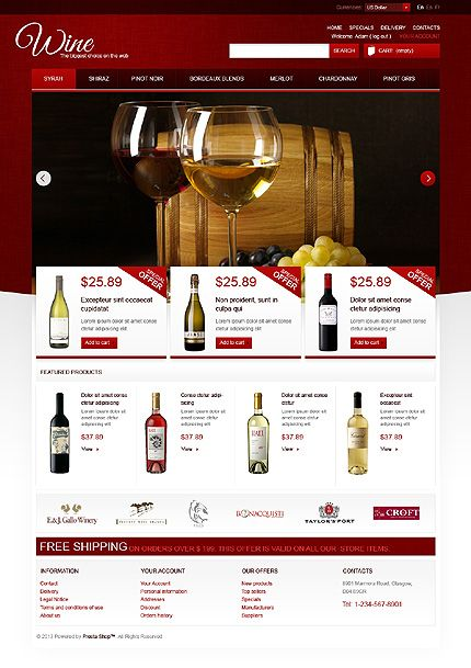 red eCommerce web design