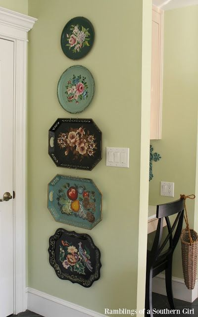 Ramblings of a Southern Girl: Tole Trays - Using Them In Your Home