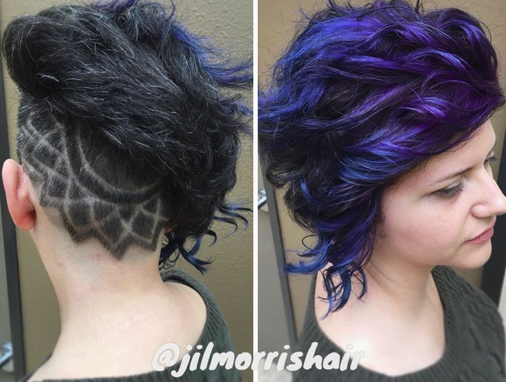 rainbow unicorn hair undercut