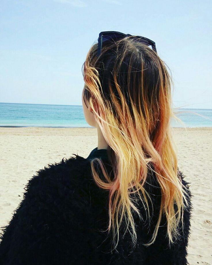 #aesthetic #ombrehair #friends #girls  #sea #ocea #trip