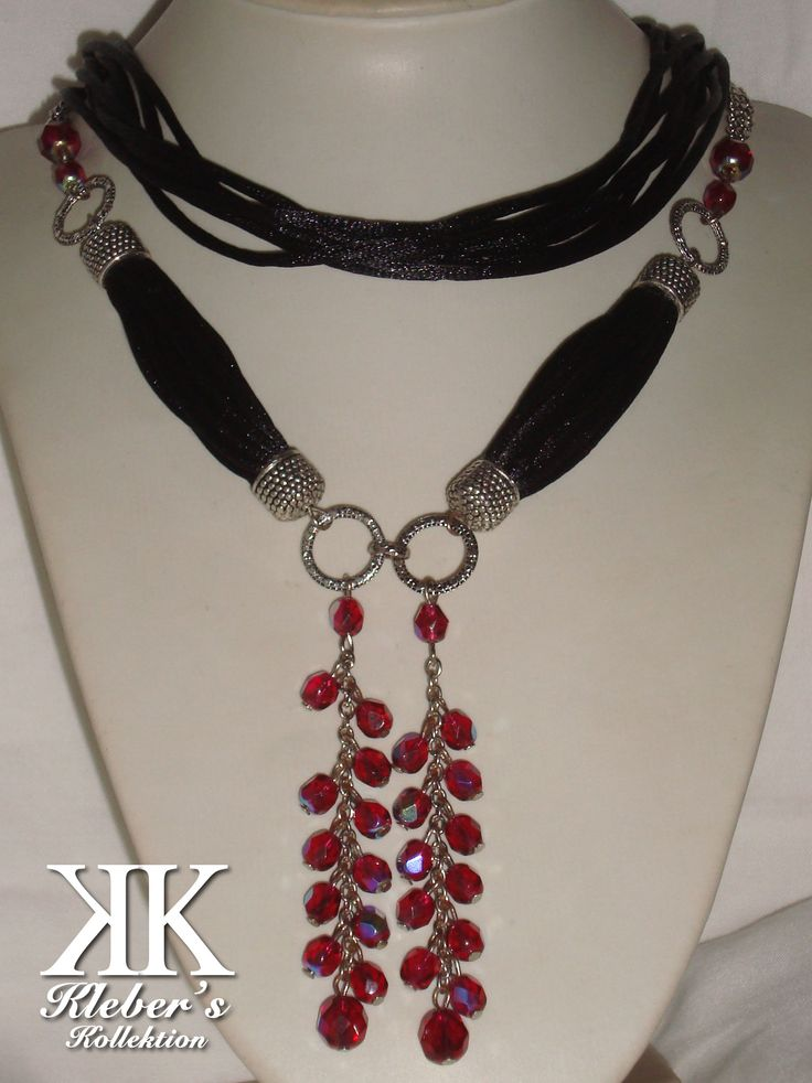 crystals + silk cord #moda #kk