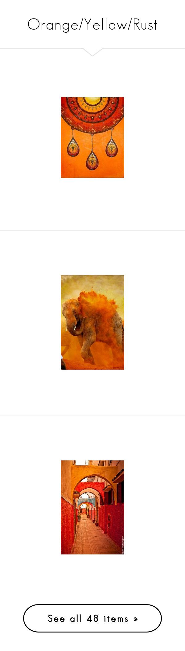 """Orange/Yellow/Rust"" by thanna2029 ❤ liked on Polyvore featuring backgrounds, orange, abstract, flowers, pictures, photos, autumn, fall, fillers and autumn background"