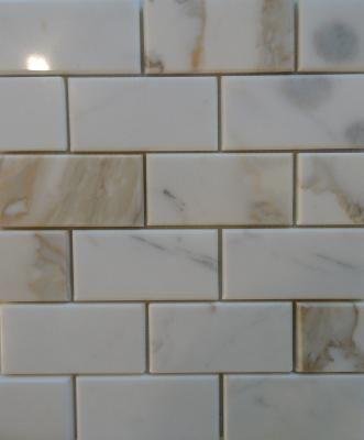 calcutta gold marble subway tile kitchen backsplash - Ubahn Fliese Backsplash Ideen