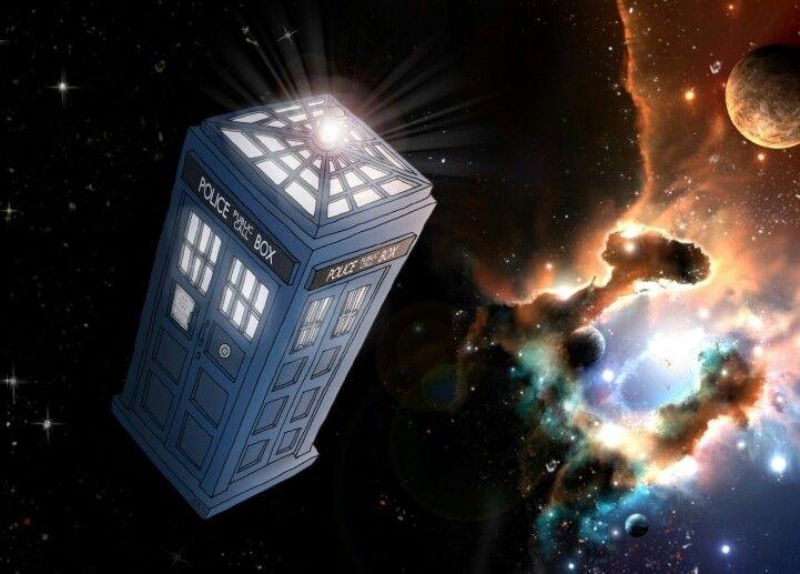 Tardis with light top  #tardis #illustration #Doctor who