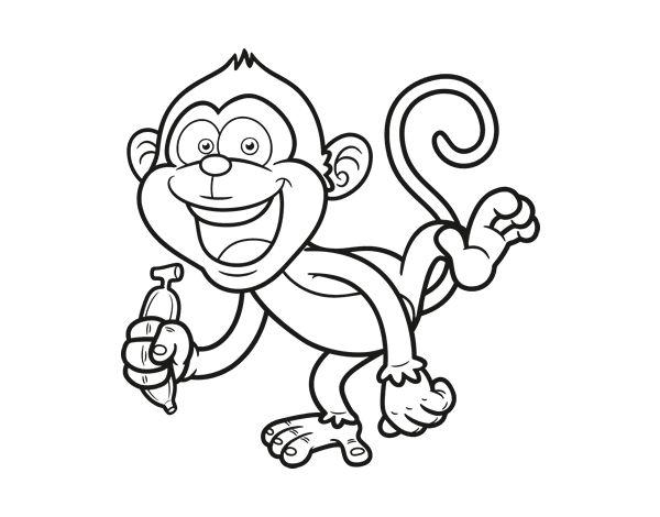 Ms de 25 ideas increbles sobre Dibujo de mono en Pinterest