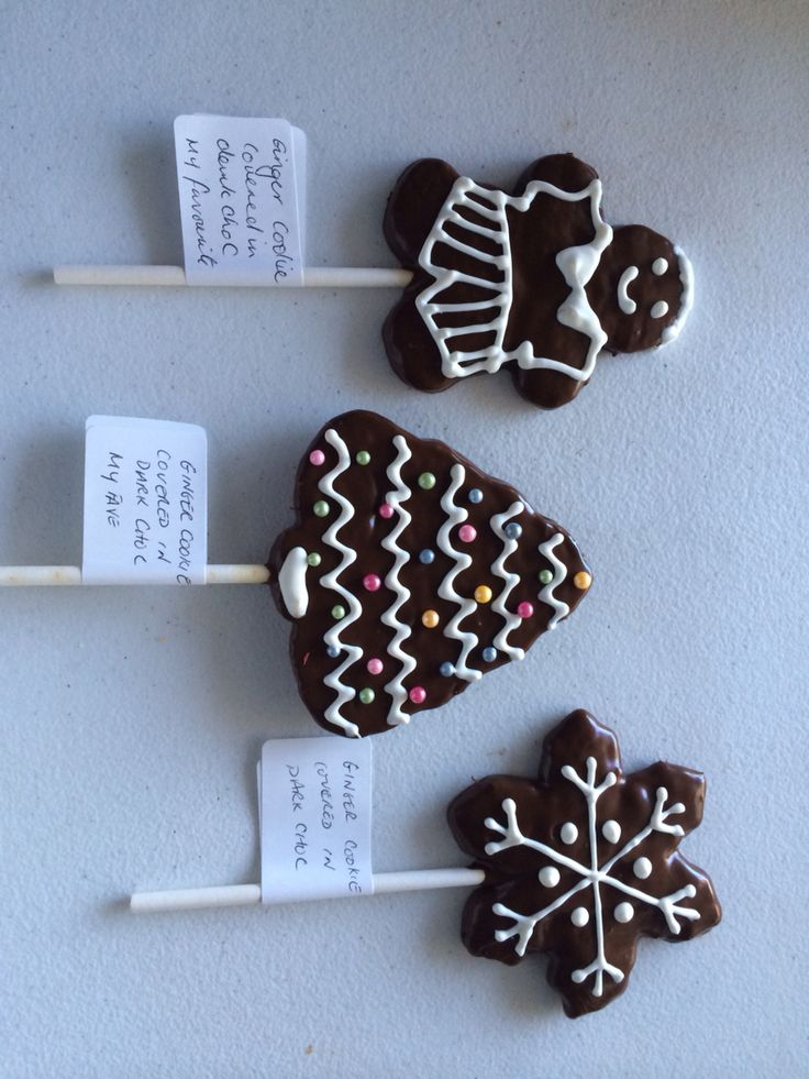 Christmas cookies covered in chocolate