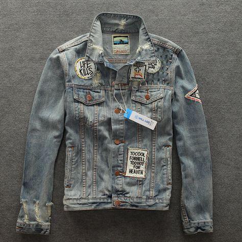 2015 Free shipping men's clothing men's jean jacket men denim jackets for men Slim Water Washed jaqueta masculina BL8818