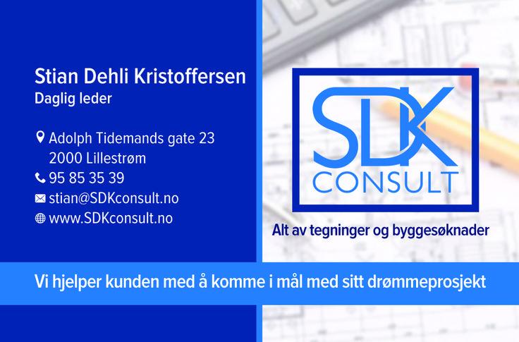 Visittkort til daglig leder i SDK Consult