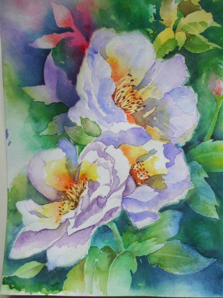 White Roses by Jan Rowe from Janet Whittle tutorial