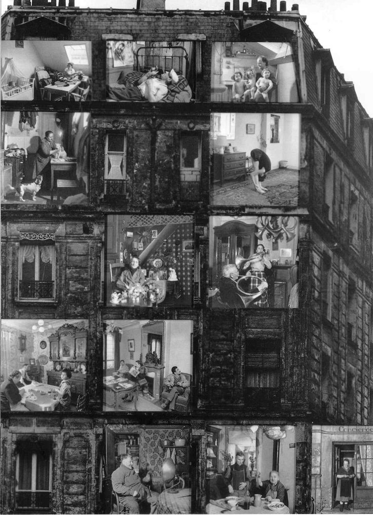 Robert Doisneau: The Lodgers, 1962. I like this because it does foster the sense of neighborly curiosity and interaction really missing in the present day. How many times have you not even greeted the person in your apartment elevator and not introduced yourself?