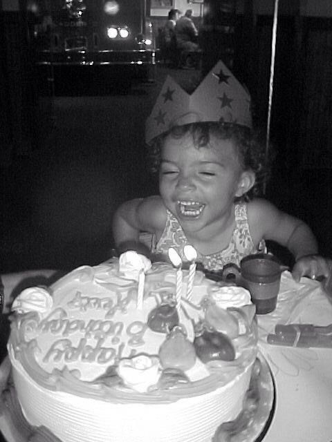 David Bowies daughter Lexis 3rd birthday on 15th August 2003.