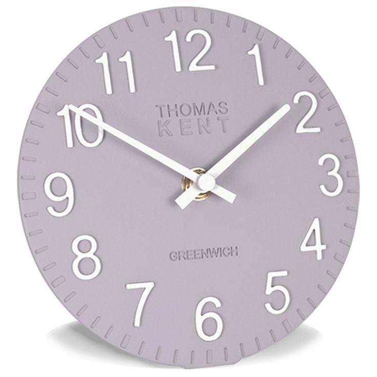 "Thomas Kent Clocks 6"" Cotswold CROCUS LILAC Clock from Homecolours.com"