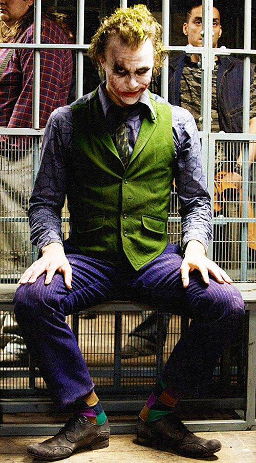 Joker (Heath ledger in the Batman Dark Knight movie)