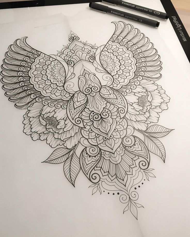Forever inspired by nature design concept for Crystal. #art #design #penandink #handdrawn #sketch #instafineliner #mehndi #mehnditattoo #mandala #mandalatattoo #lineart #tattooart #domholmestattoo #theblacklotusstudio #iblackwork #instaart #blxckmandalas #beautiful_mandalas #flashaddicted #nature