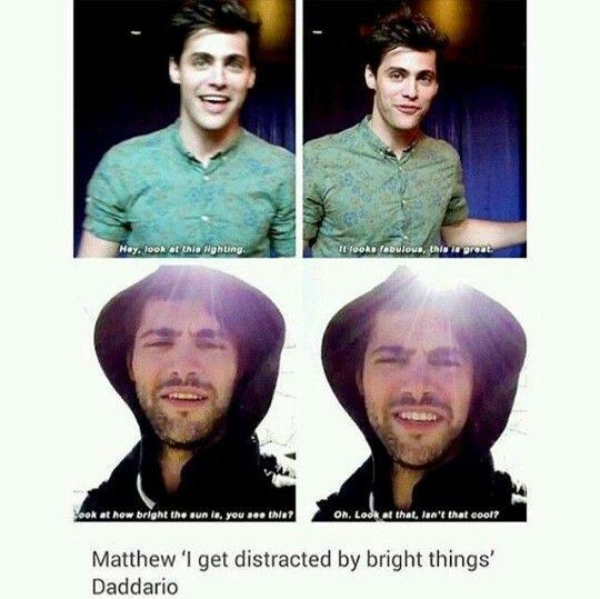 Matt and bright lights