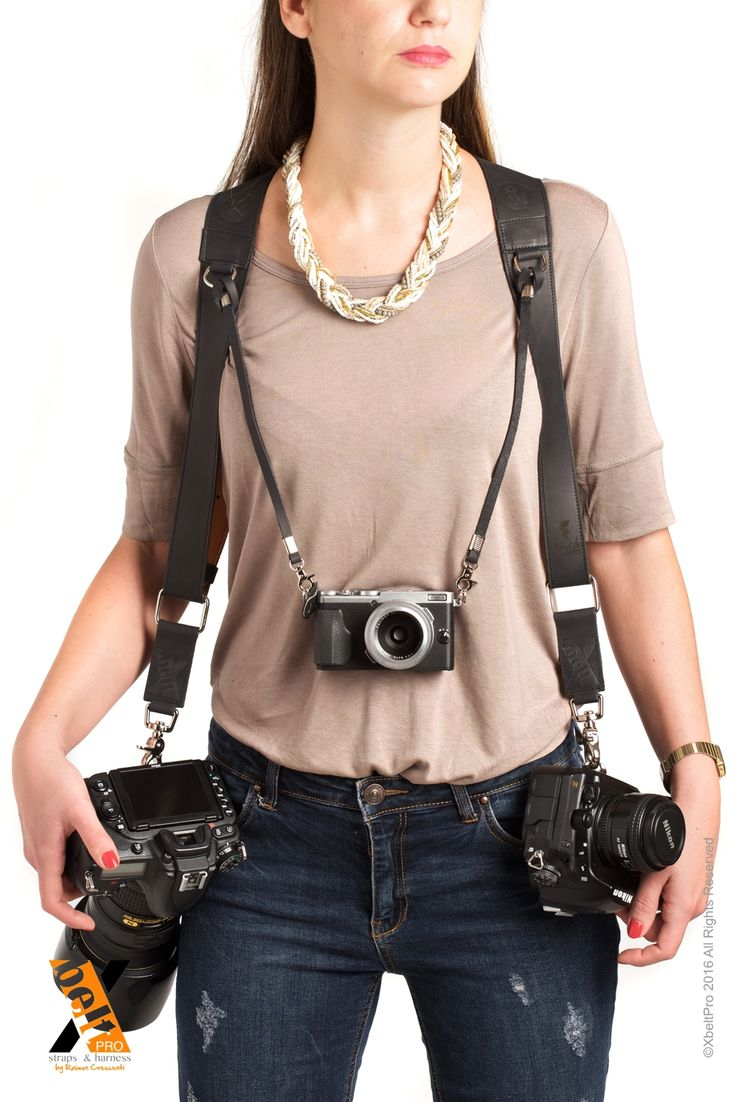 XbeltPro leather straps and harness, created for photographers that allows to carry 1, 2 or 3 cameras comfortabily and safe way.