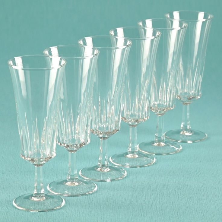 6 Vintage Sektgläser France Sektglas Sektkelche Gläser Trinkgläser K27