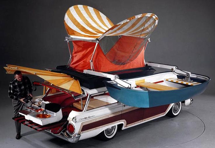 59 Ford Wagon With Camping Options Camper Pinterest