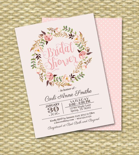 Printable Bridal Shower Invitation van SunshinePrintables op Etsy