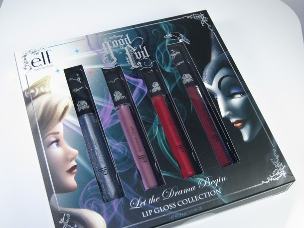 E.L.F. Disney Good vs Evil Let the Drama Begin Lip Gloss Set Review and Swatches
