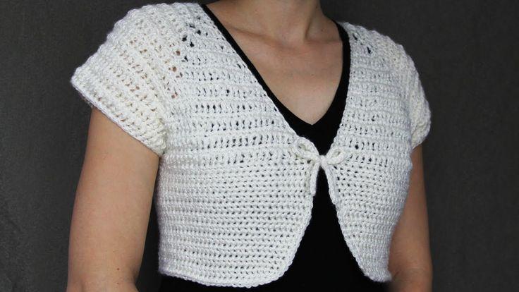 How to crochet a women's short top - video tutorial with detailed instru...