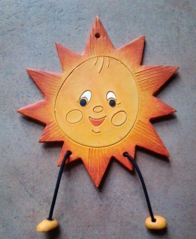 Keramické sluníčko s nožičkami v. :: Keramika Andreas