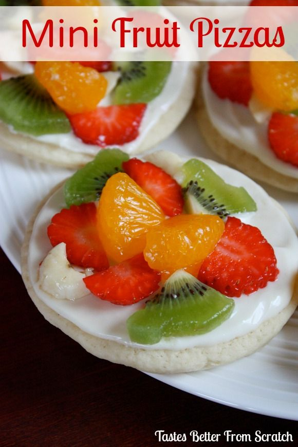 Mini Sugar Cookie Fruit Pizzas : Tastes Better From Scratch #sugarcookie #fruit #pizza
