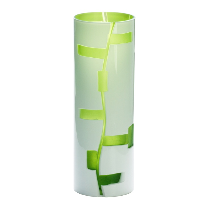 cyan designs small danish vase in white and green 04242 vases decorative accents decor