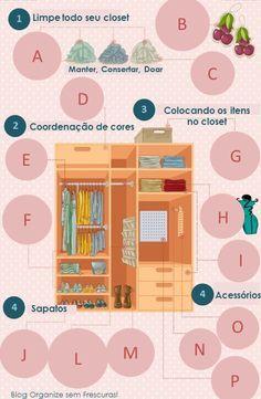 Organize sem Frescuras | Rafaela Oliveira » Arquivos » Guia prático de organização do Closet (ou armário)