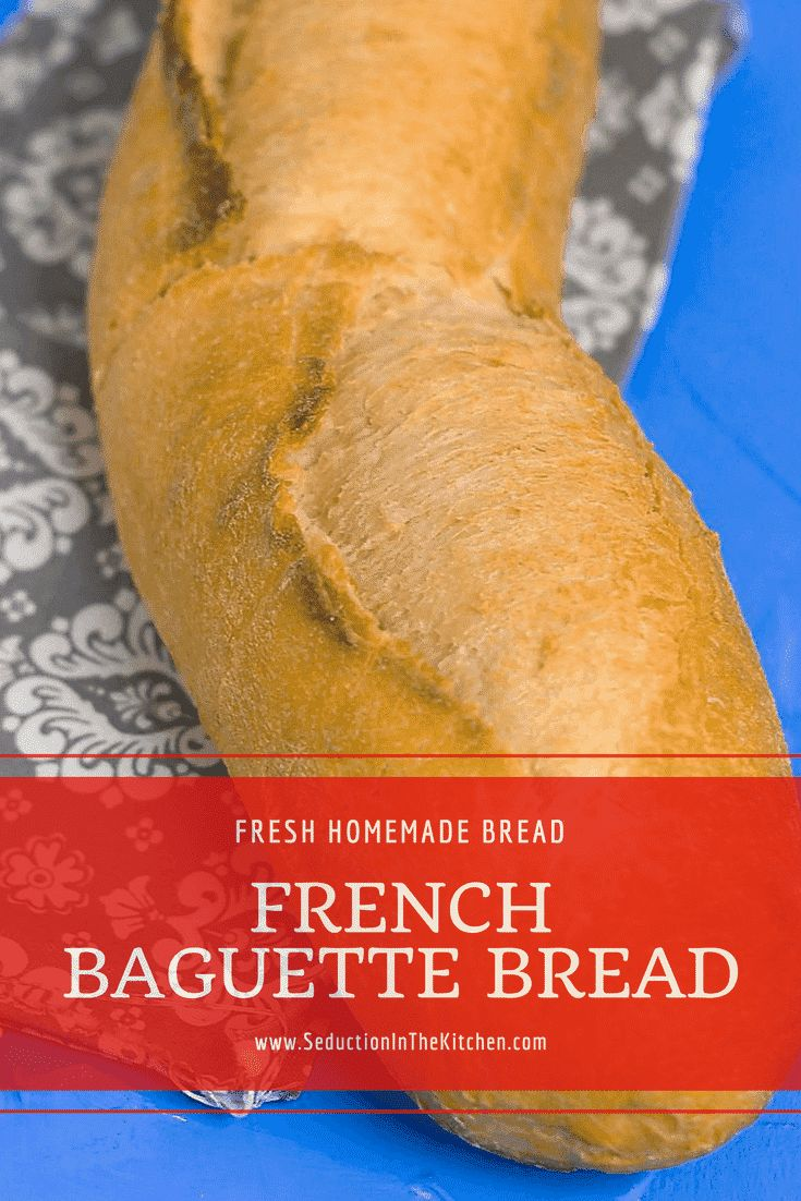 Homemade French Baguette Bread is easy to make at home. There is nothing like fresh homemade bread right out your oven. This French bread is one you will want to make over and over again because it is so easy to make | SeductionInTheKitchen.com #frenchbread #Baguette #homemadebread #bread #recipes