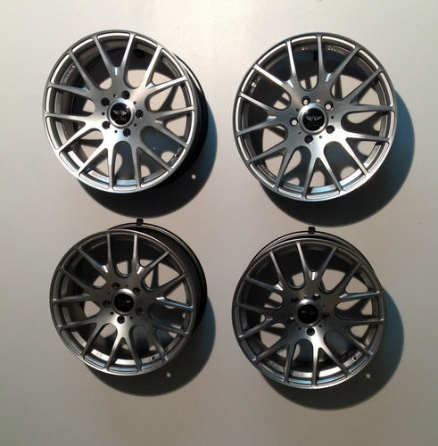 18 Quot Avarus Av8 Set 4 Wheels 18x8 5x120 30mm Bmw Silver Xts