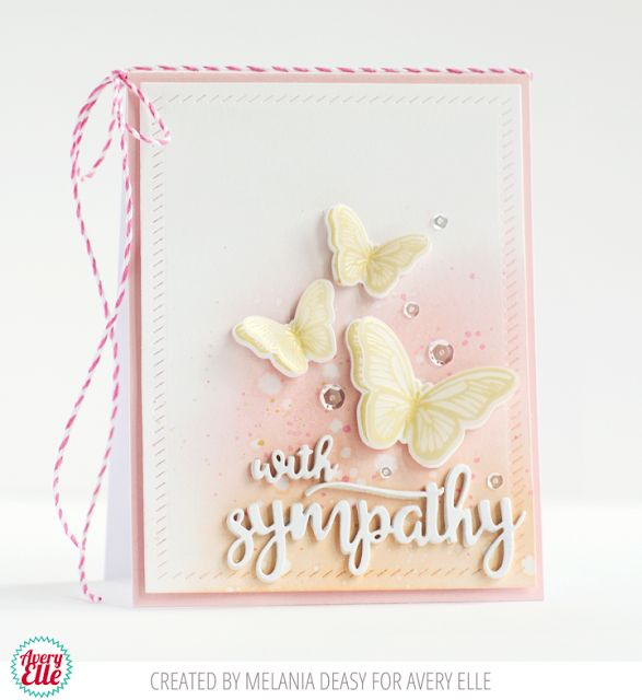 110 best avery elle images on pinterest clear stamps homemade avery elle with sympathy butterflies m4hsunfo