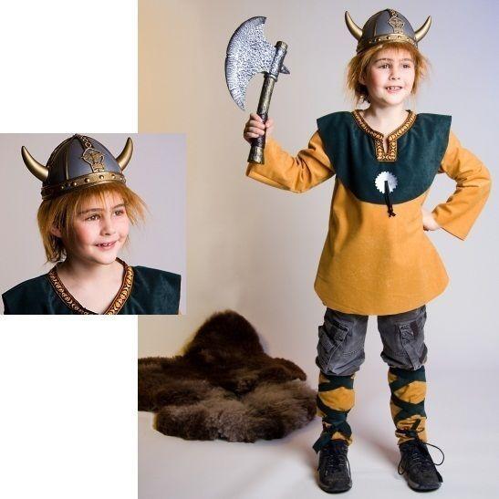 Wikinger Kostüm Kinder Mittelalter Helm Wickie Seefahrer Wikingerhelm Fasching