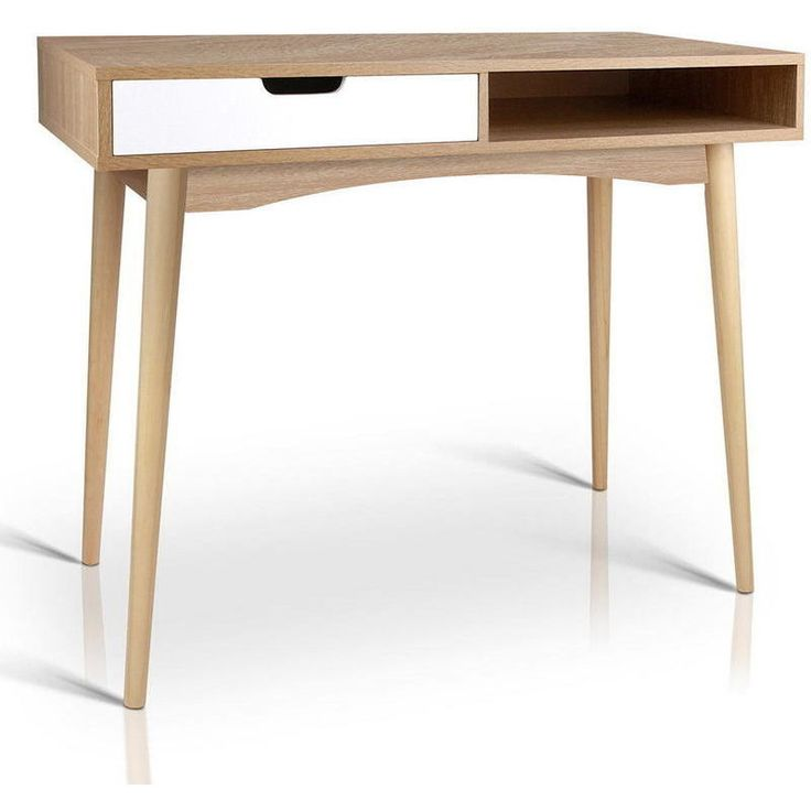 buy office desk natural. Computer Desk With Drawer In Natural Wood And White | Buy Desks Office S