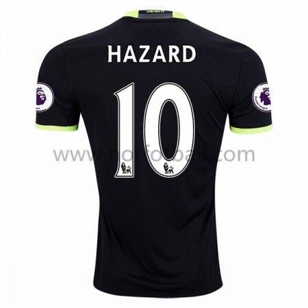 Billige Fotballdrakter Chelsea 2016-17 Hazard 10 Borte Draktsett Kortermet