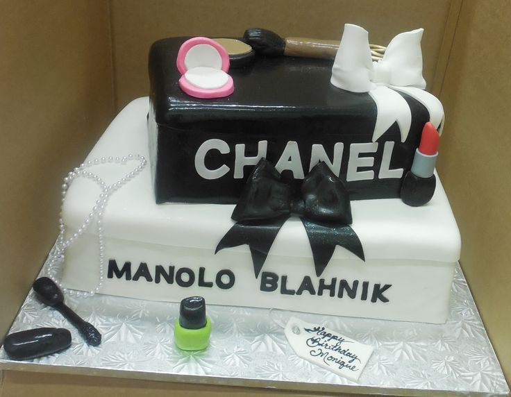 Calumet Bakery Shoe boxes with makeup specialty cake