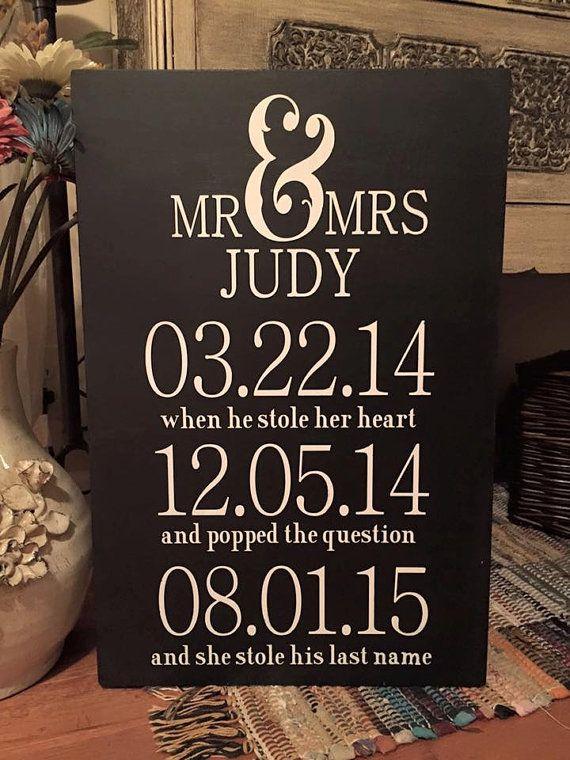 Wedding date sign in Brisbane